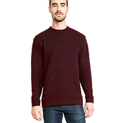 Unisex Long-Sleeve Crew with Pocket