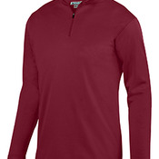 Youth Wicking Fleece Quarter-Zip Pullover